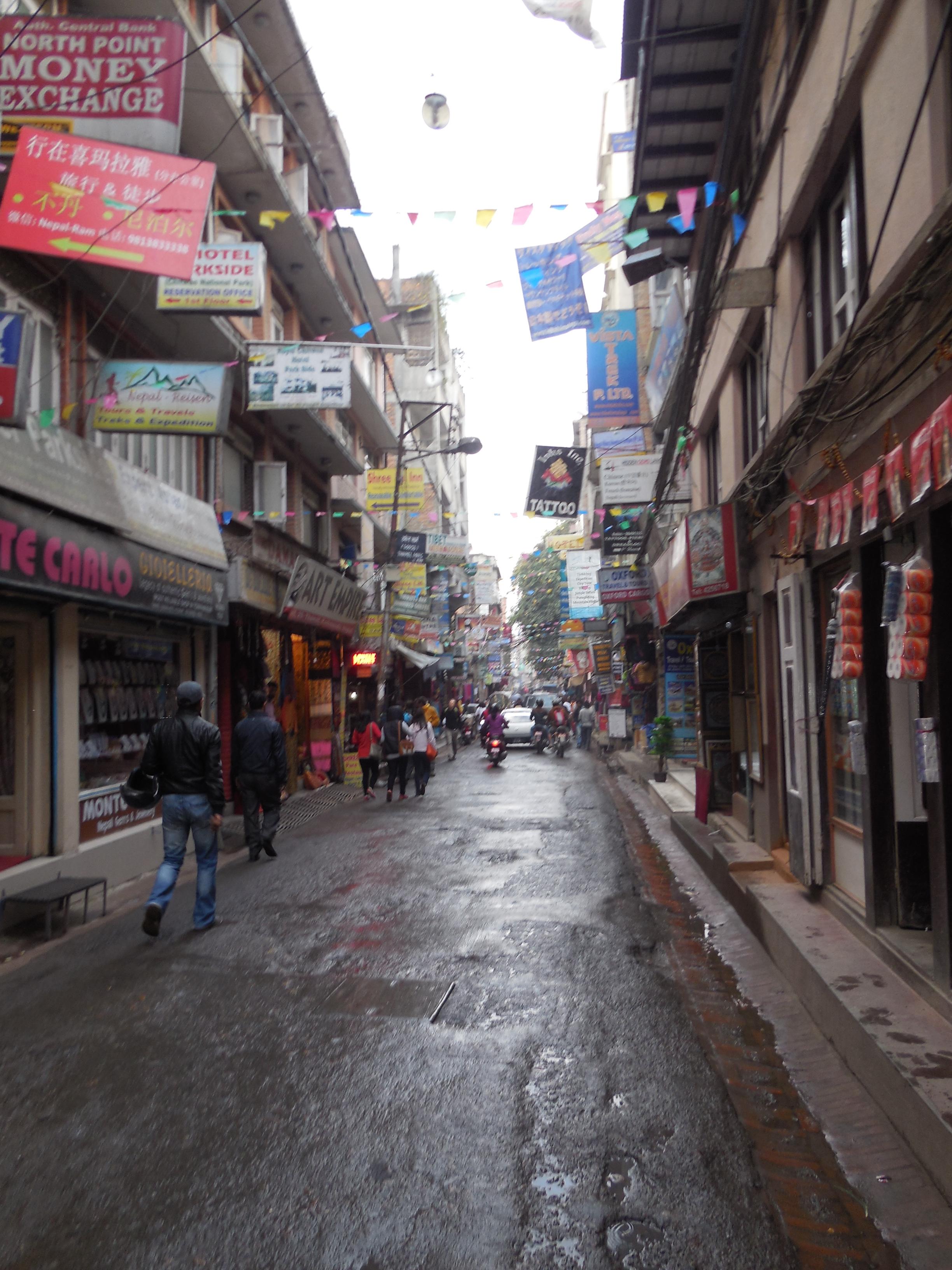 Thamel, the tourist ghetto in Kathmandu