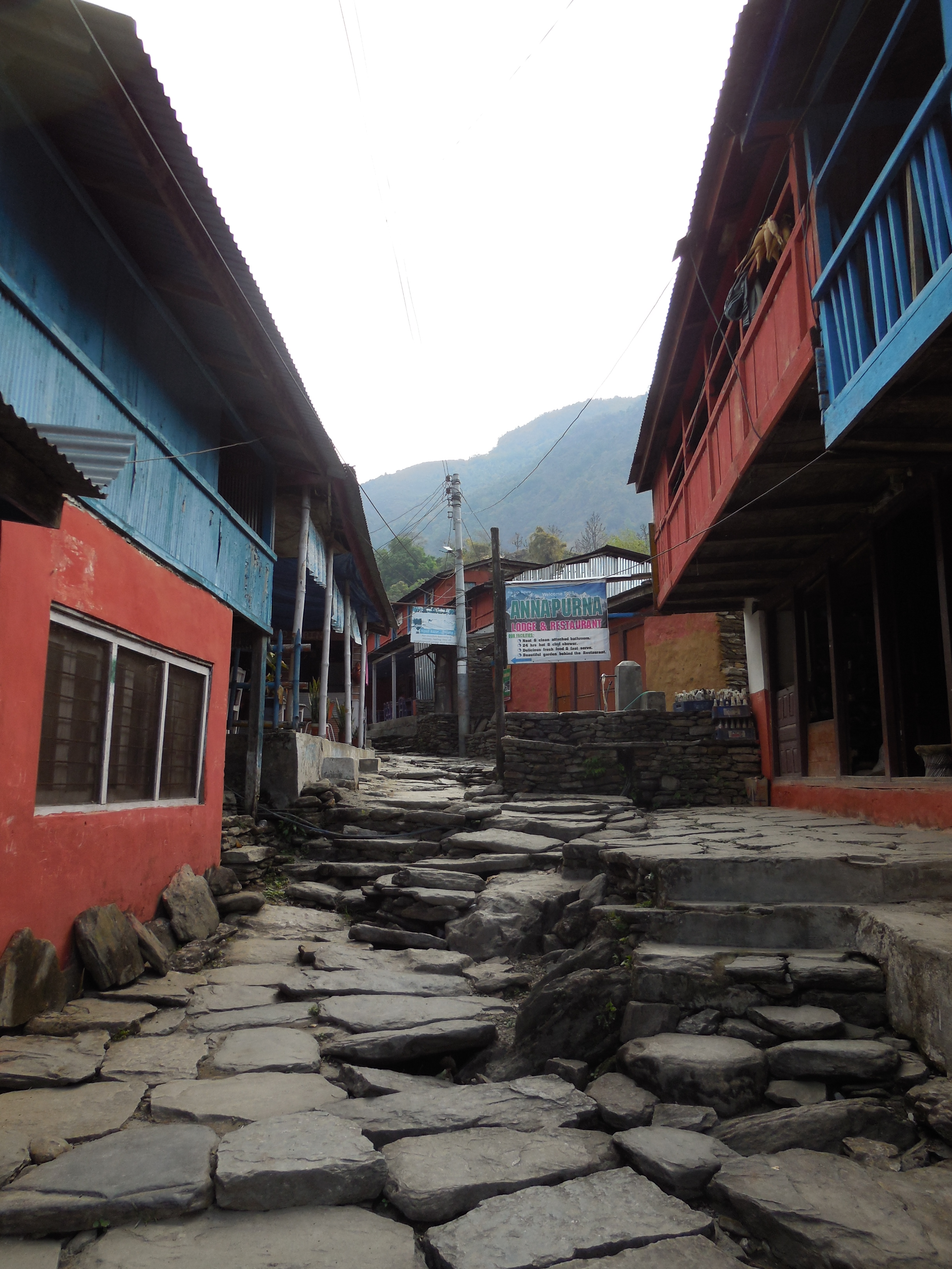 Typical village in the Himalayas