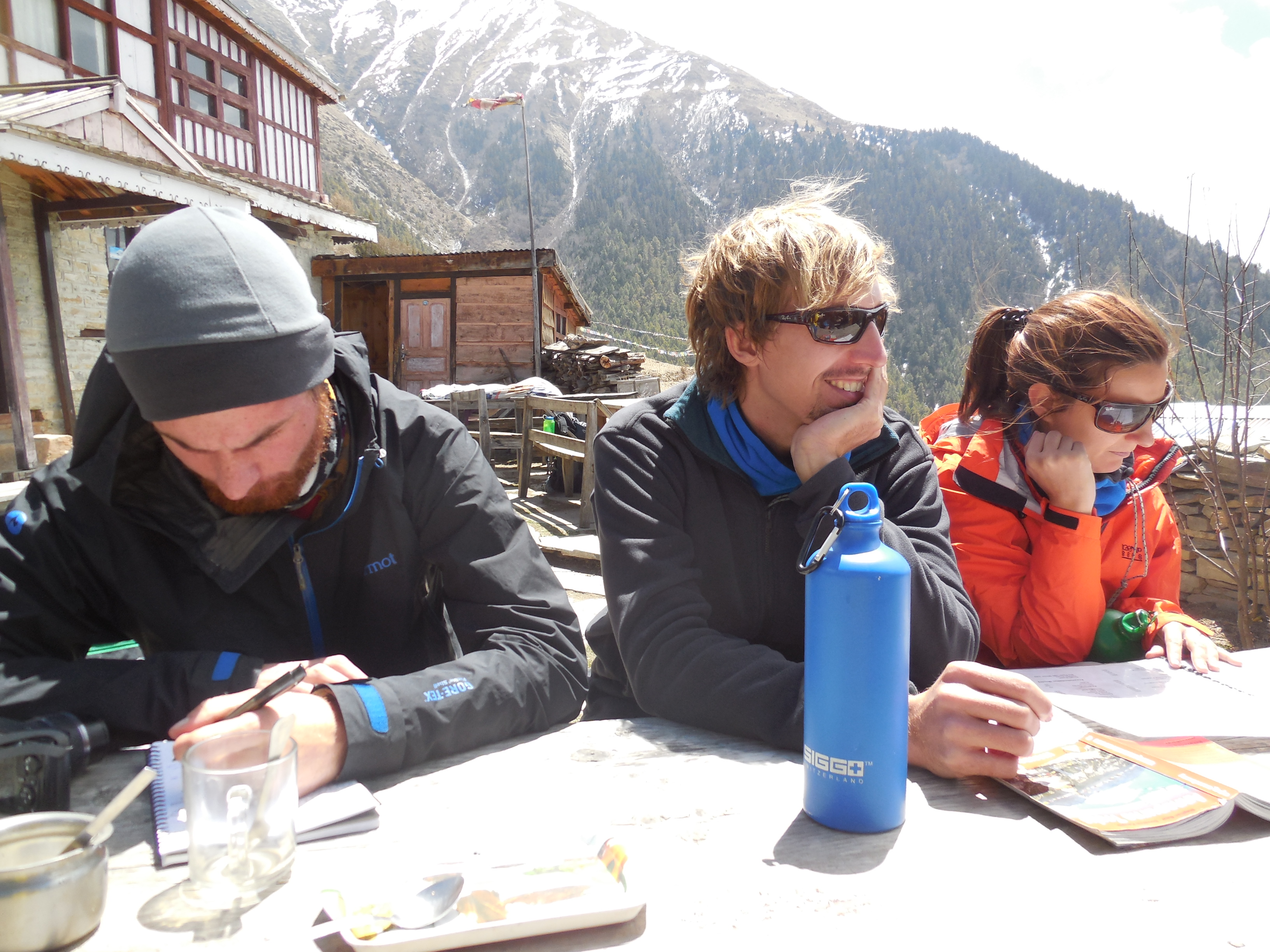 My buddies from that trip. Torge, Eric, Amaia