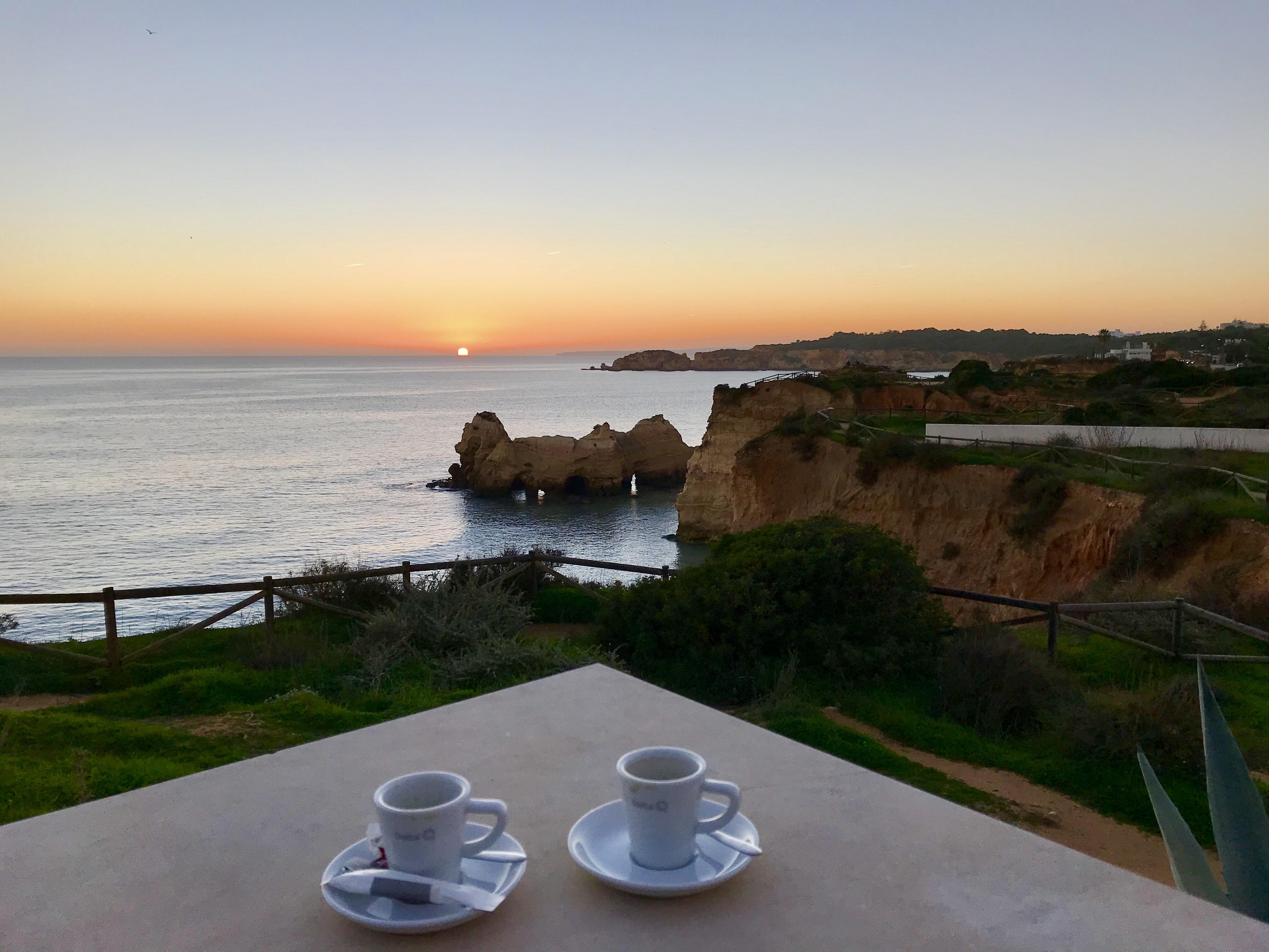 Sonnenuntergang an der Praia da Rocha
